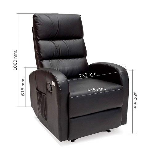 sillon masaje comfort novohogar medidas